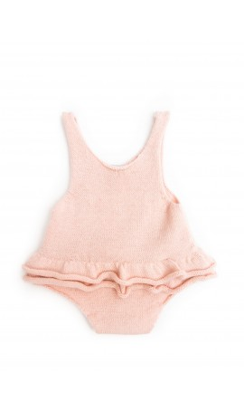 Rent DOLLY by Le Petit Tom Lucia Ballerina Romper in Ballet Pink