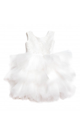 Rent DOLLY by Le Petit Tom Pirouette Dress in Off White