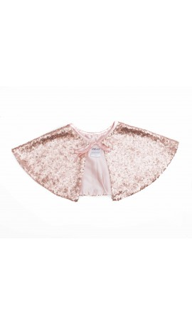 Rent DOLLY by Le Petit Tom Sequin Capelet in Ballet Pink