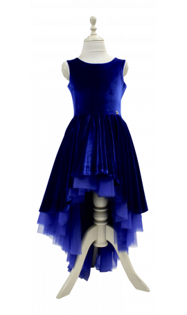 Rent DOLLY by Le Petit Tom Velvet Duchess Dress in Royal Blue