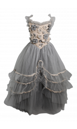 Rent DOLLY by Le Petit Tom Forest Fairy Tutu Dress in Grey / Ivory