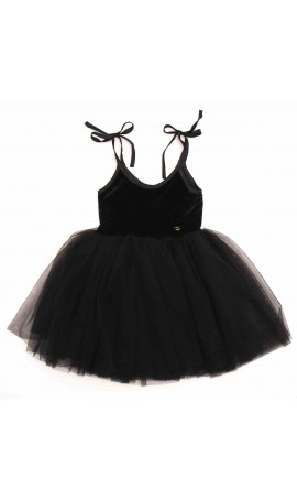 Rent DOLLY by Le Petit Tom Velvet Sabrina Tutu Dress in Black