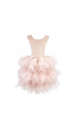 Rent DOLLY by Le Petit Tom Velvet Pirouette Tutu Dress in Ballet Pink