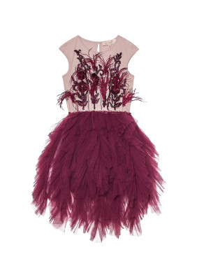 Tutu du Monde Grandstand Cape in Pomegranate
